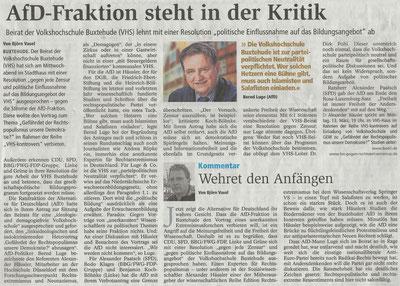 Buxtehuder Tageblatt, 20.01.2017