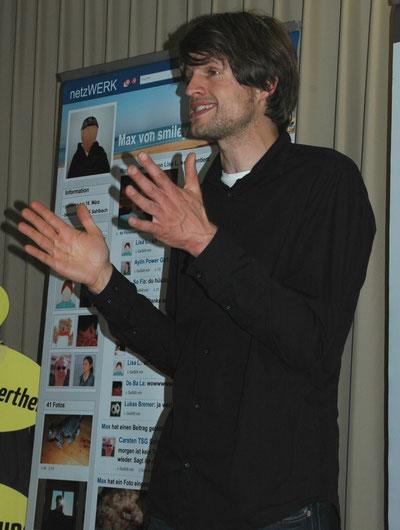 "Moritz Becker von ""Smiley e. V."""