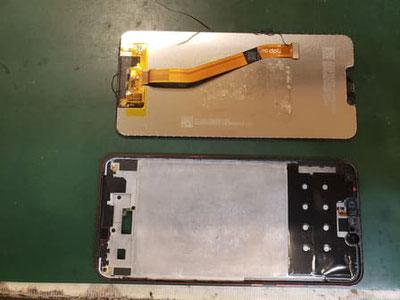 下準備で両面テープを全て外して綺麗にしたiPadmini5のフレーム