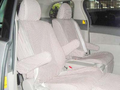 オーダーメイド カーシートカバー 製作事例 トヨタ・エスティマ ハイブリッド 横浜コットンハリウッド