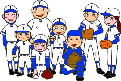 野球部員のイラスト