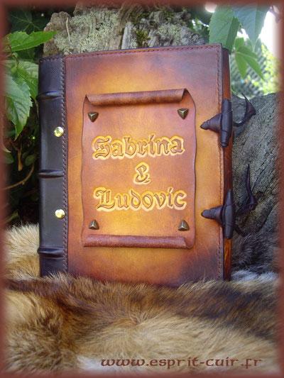 """Grimoire A5  """"Sabrina et Ludovic"""""""