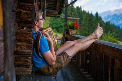 Christoph mit Steirischer Harmonika