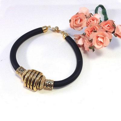 Bracelet doré fantaisie années 80