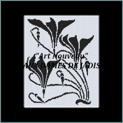 art nouveau-fleurs-picture-pattern-tapis-tapestry-miyuki-delica-seed beads-DIY-peyote-loom-even count-instant downlaod-auxdamesdejadis.com