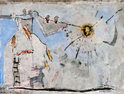 Malerei von Sylvia Kiefer zur Coronakrise 2020