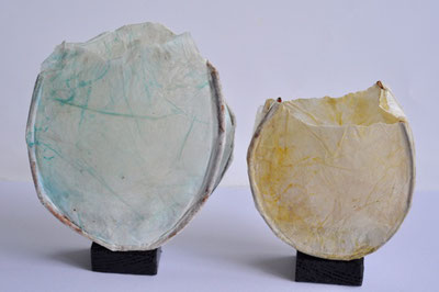 Ingrid Ott, Pollengefäße, 15 x 16 cm, 11 x 13 cm
