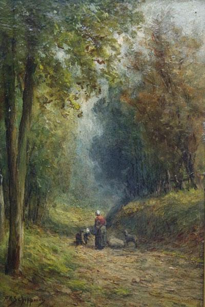 te_koop_aangeboden_een_bosgezicht_van_de_nederlandse_kunstschilder_pieter_adrianus_schipperus_1840-1929
