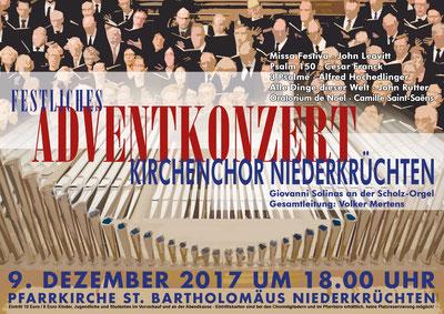 Festliches Adventkonzert am 09.12.2017 in Niederkrüchten