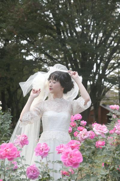 アンティーク風ウェディングドレス