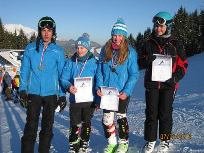 Slalomcup: Platz 1 für Lisa,Julian u Johannes Platz 6 für Nina    LKMeisterschaft: Platz1 für Lisa und Johannes Platz 2 für Julian und Pl.8 für Nina