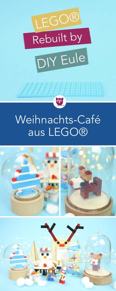 [Werbung] LEGO® Rebuilt by DIY Eule: Das 3in1 Creator Set modulares Zuckerhaus neu gedacht als winterliches Café Rudolf mit weihnachtlichen LEGO-Figuren