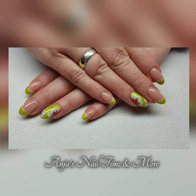 One Stroke mit Gel gemalt