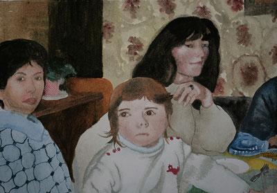 L'enfant, aquarelle de C.Loichot