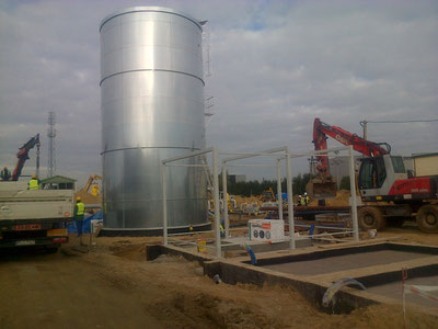budowa zbiornika przeciwpożarowego ppoż serwis