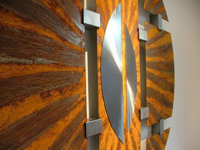 Energie-Erde, Detail Mitte, (Runde Bilder aus Metall)