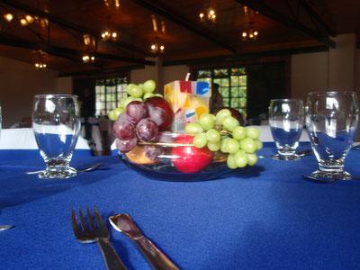 Centro de mesa con frutas