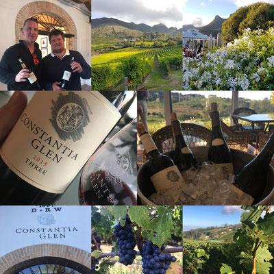 Besuch bei Constantia Glen, Constantia Südafrika April 2018