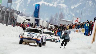 MAG Lifestyle Magazin Österreich Zell am See Kaprun Eisrennen GP Ice Race Porsche Audi Motorsport Action Hirscher Svindal Skijöring