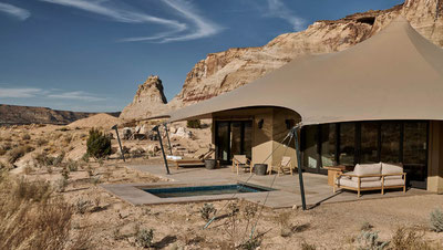 MAG Lifestyle Magazin Reisen Urlaub USA Abenteuerurlaub Unterkünfte Abenteurer Camp Sarika by Aman, Utah