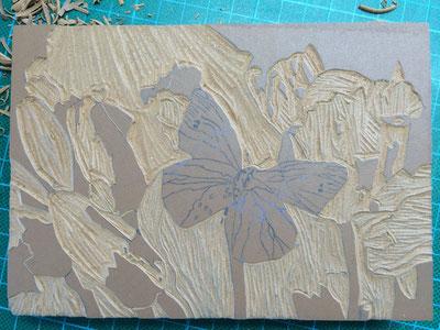 Schmetterling im Rapsfeld, 2014 - Druckwerkstatt Edition Koller