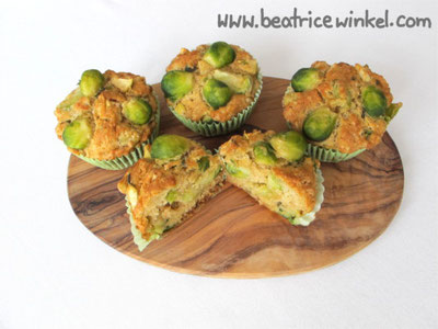 vegan Brussels Sprout Muffins