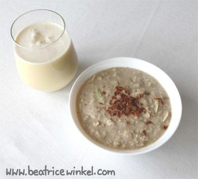 veganes weißes Frühstück