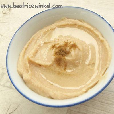 veganer weißer Hummus