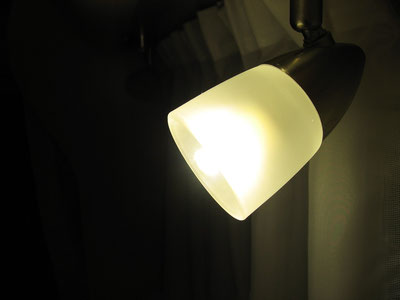 neue LED eingesteckt, Leuchtmittel stehen mit den 34mm nicht über