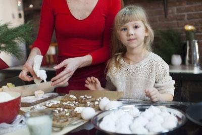 親子でお菓子作り