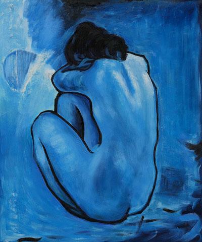 "P. Picasso, ""Nudo blu"", 1902"
