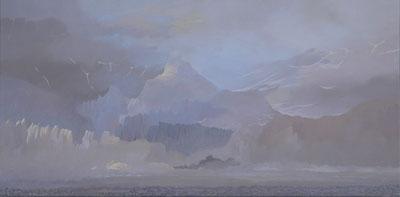 """Martin Guido Becker, """"Eismeer, 2012, Öl/Lwd, 50/100 cm"""