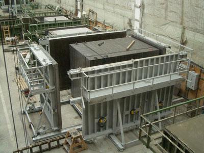 Molde rectangular para piezas de hormigón