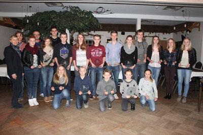 Beim Verbandstag der Leichtathleten aus dem Cuxland wurden zahlreiche erfolgreiche Leichtathleten geehrt.