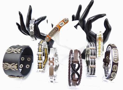 collection de bracelet en cuir silicone ou acier pour homme