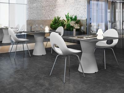 Lyxo Dot Tisch aus Kunststoff für Innen und AUßen günstig kaufen