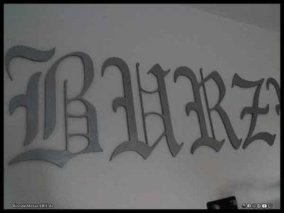 WoodnMetalART Scrollsaw Holzlogo Burzum Black Metal