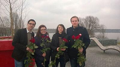 v.l.n.r. Tom Schäfer, Pia Nörenberg, Mandy Sörgel und Eric Haupt