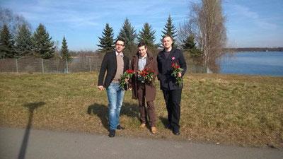 v.l.n.r. Tom Schäfer, Jörg Weise und Eric Haupt