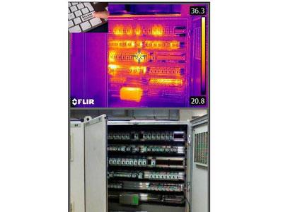 Thermografische Unteruchung einer Elektroverteileranlage IB Klaiber