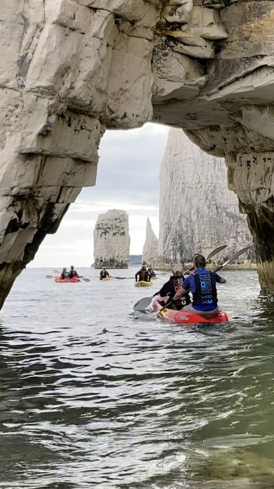 Kayaking trips to Old Harry Rocks, Nr Studland