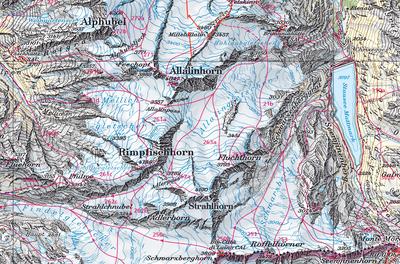 Skitourenparadies Saas Fee - Britanniahütte - Auf das Bild klicken!