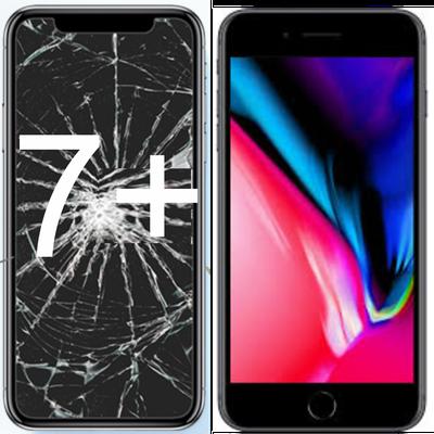 Centro Riparazione iPhone Firenze Via Gabriele D'Annunzio 72 Sostituzion vetro Schermo rotto  iPhone 7 Plus , (fuori garanzia) Con ricambio ORIGINALE,Genius Premium,Garantito con 90 giorni di garanzia.
