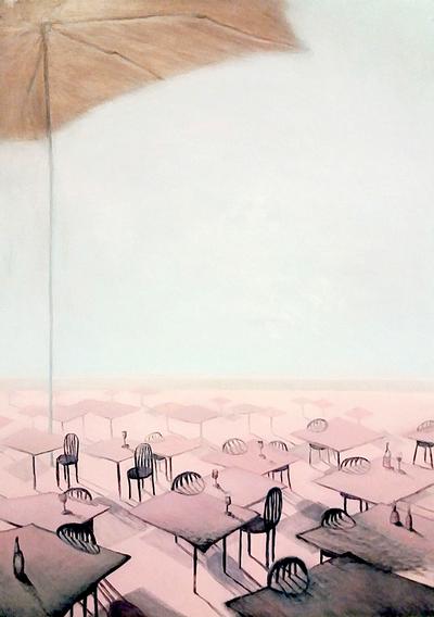 Nina Gross Kunst Malerei Sonnenschirm