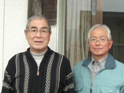 会 長 菅原一夫さん(左) 副会長 上沼清一さん(右)
