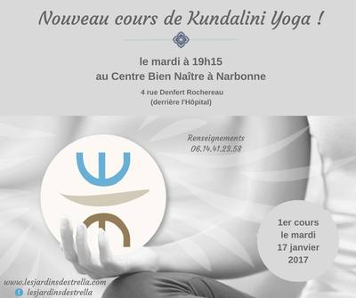 informations nouveau cours de Kundalini Yoga à Narbonne