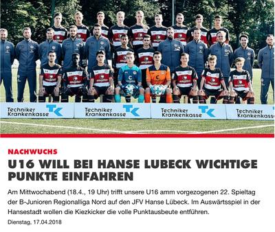 Quelle: Homepage des FC St. Pauli (17.04.2018)