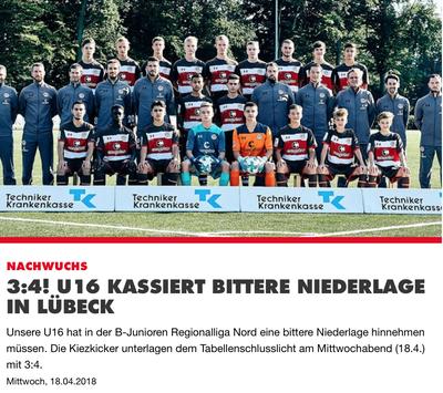 Quelle: Homepage des FC St. Pauli (18.04.2018)