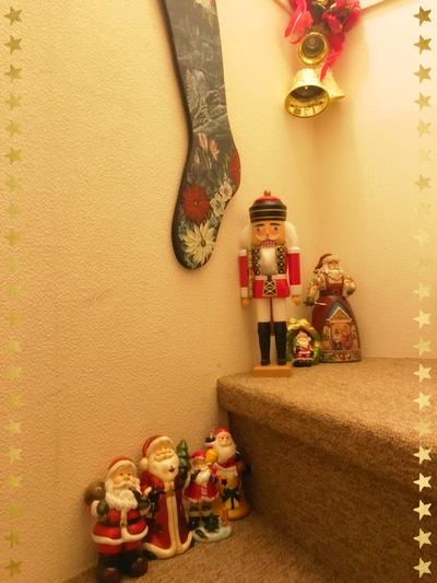 教室のクリスマスの飾り