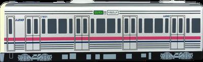懐中電灯 電車型/バス型 側面
